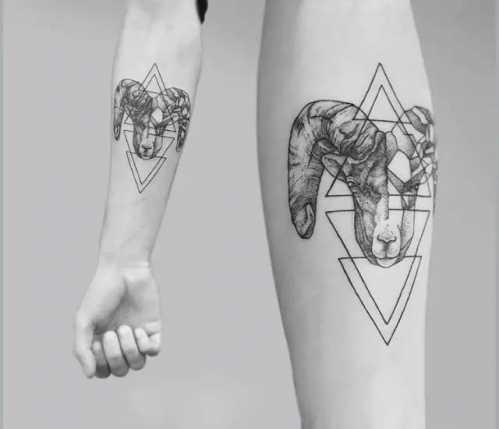 摩羯话题图十二星座之摩羯座纹身-星座-186跟白羊座男生没纹身聊图片